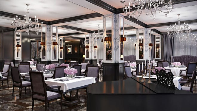 Artist's renderings of a dining area for the Hotel Retlaw.