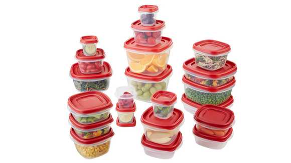Rubbermaid S Plastic Reusable Food Storage Containers Set