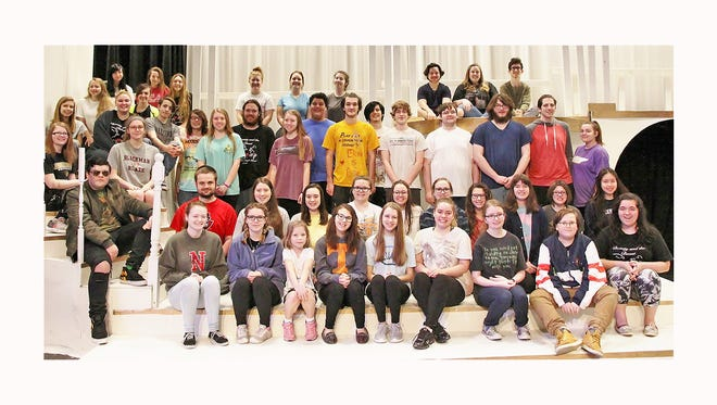 The cast and crew of Fairview  High's upcoming production of Beauty & the Beast.