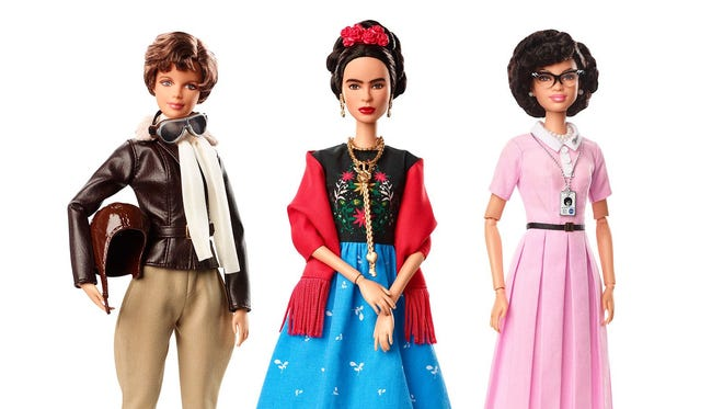 Mattel, the makers of Barbie, announced they will make a new line of role model dolls that include Amelia Earhart, Frida Kahlo and Katherine Johnson.