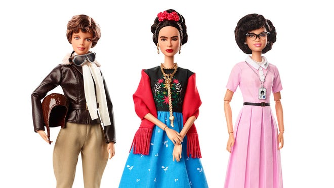 "The historical dolls are part of Barbie's ""Inspiring Women"" line."