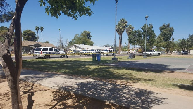 Scene of a shooting near the 2600 block of North 31st Street in Phoenix.