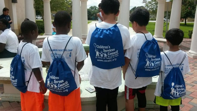 These students participated in last year's summer program activities sponsored by the Children's Services Council.