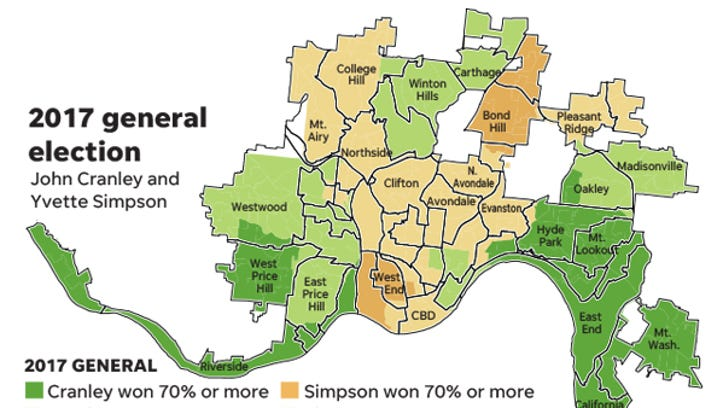 Mark Wert - Simpons Us Map Vs Real Voters Map