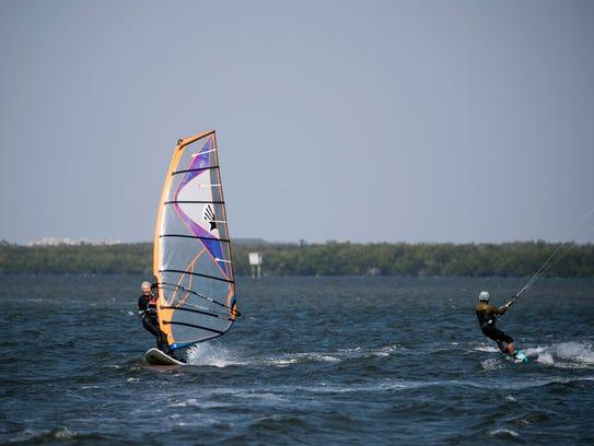 Maggie Drummond, 70 windsurfs alongside professional
