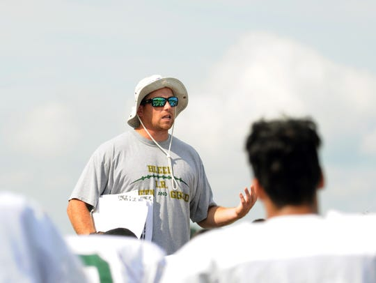 In this file photo, first-year Indian River head coach