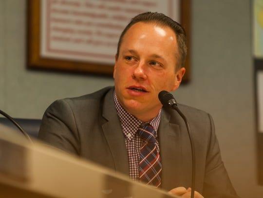 Vineland School Board President Jeffrey Bordley speaks