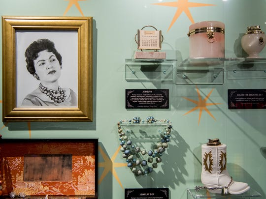 Items on display at the Patsy Cline Museum on Thursday,