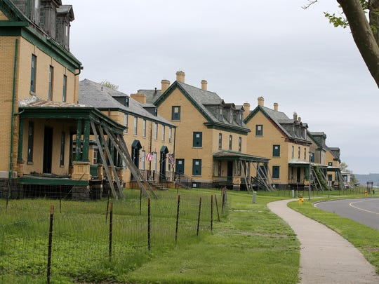 Officers' Row at Fort Hancock on Sandy Hook on May 18, 2018.