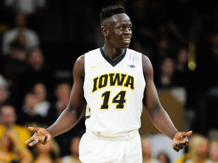 Peter Jok became the fourth consecutive Hawkeye to
