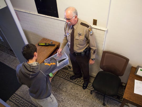Augusta County Sheriff's officer J.M. Wieger returns