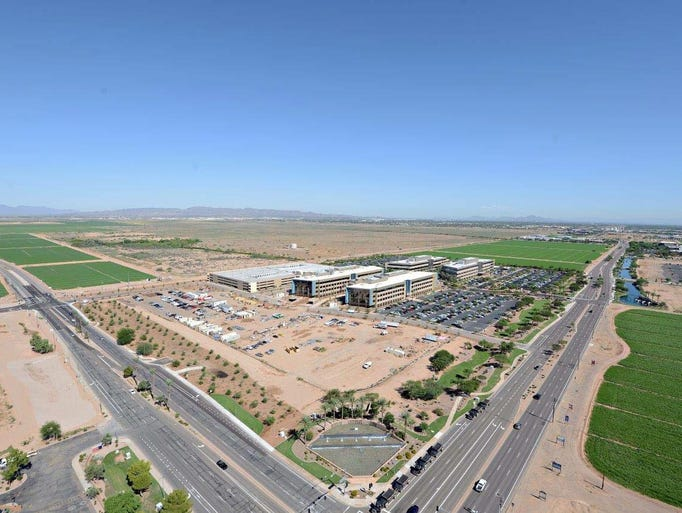 The nearly 50-acre campus sits within Chandler's Price