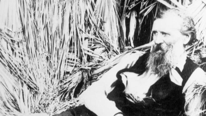 John Muir in Andreas Canyon, circa 1905.