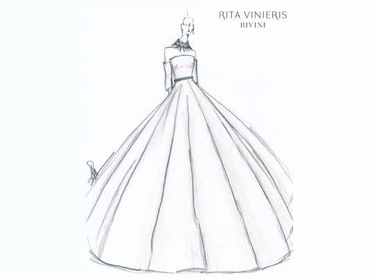 Rivini Rita Vinieris wedding dress, designed for Lea