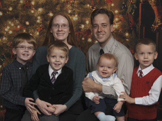 The Boomker family, Amelia and Jim and their sons, Daniel (9), Liam (6), Ryan (4) and Connor, 18 months.