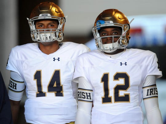 Brandon Wimbush, right, has waited for his turn at