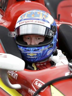 IndyCar driver Scott Dixon  led Thursday's action at 1 minute, 9.8281 seconds,