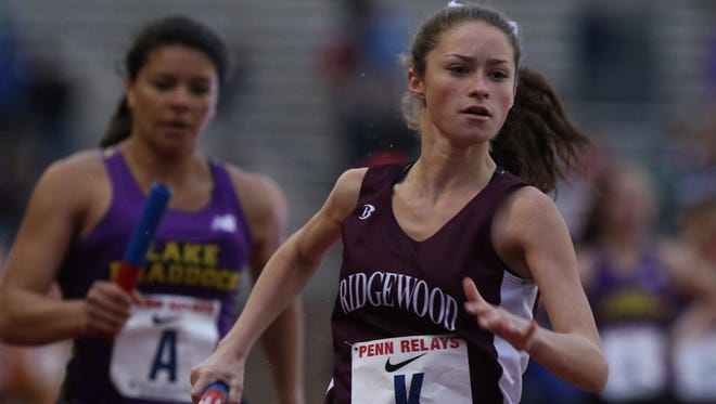 Meghan Adams finished fifth for Ridgewood in the 5,000-meter run at the Season Opener.