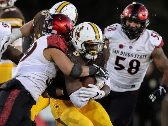 NCAA Football: San Diego State at Wyoming
