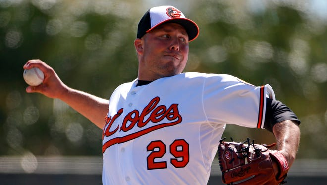 Orioles' Tommy Hunter has been converted from a starter to the team's new closer.