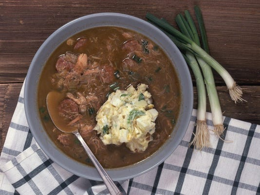 Celebrate Mardi Gras with chicken and sausage gumbo