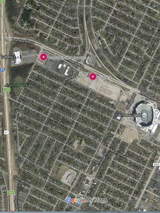 Packers US Bank Discuss New Site - Us bank google maps