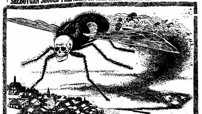 A Sheboygan Press article with a school contest killing flies.