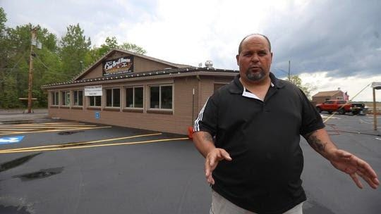 Dave Palumbo, owner of The Original Char Broil House has a tent he purchased erected in the back parking lot Friday, May 29, 2020. Palumbo had filled out all the permits for the Town of Greece, and is waiting for official go ahead and have outdoor dining.