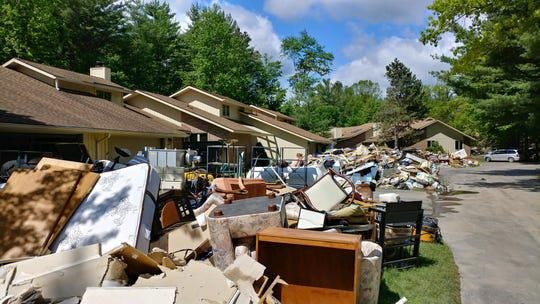 The damage from the flooding in Midland, Michigan, in May 2020.