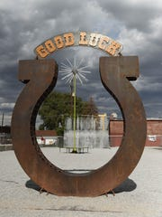 Burning Man Art - Good Luck Horseshoe