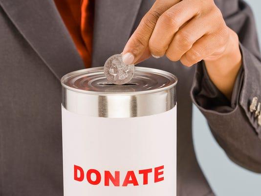 Donating money