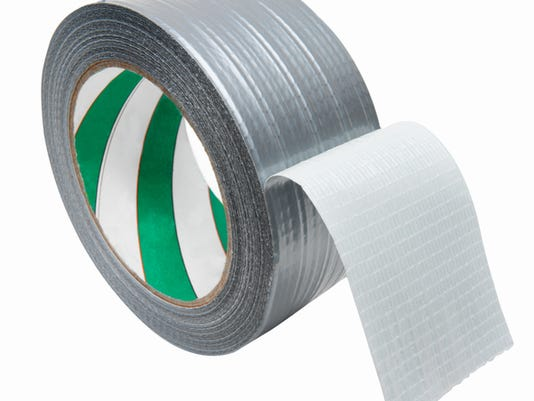Close up of a roll of masking tape