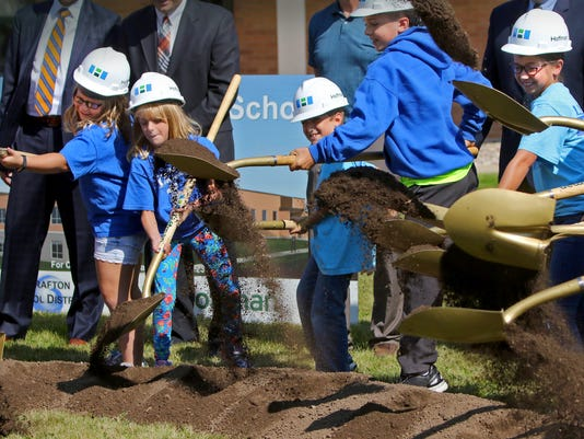 Grafton Schools break ground for multiple addition and renovation projects
