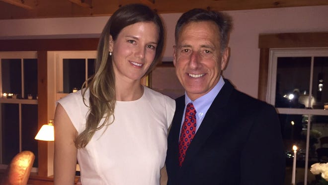 Gov. Peter Shumlin and his wife, Katie Hunt.