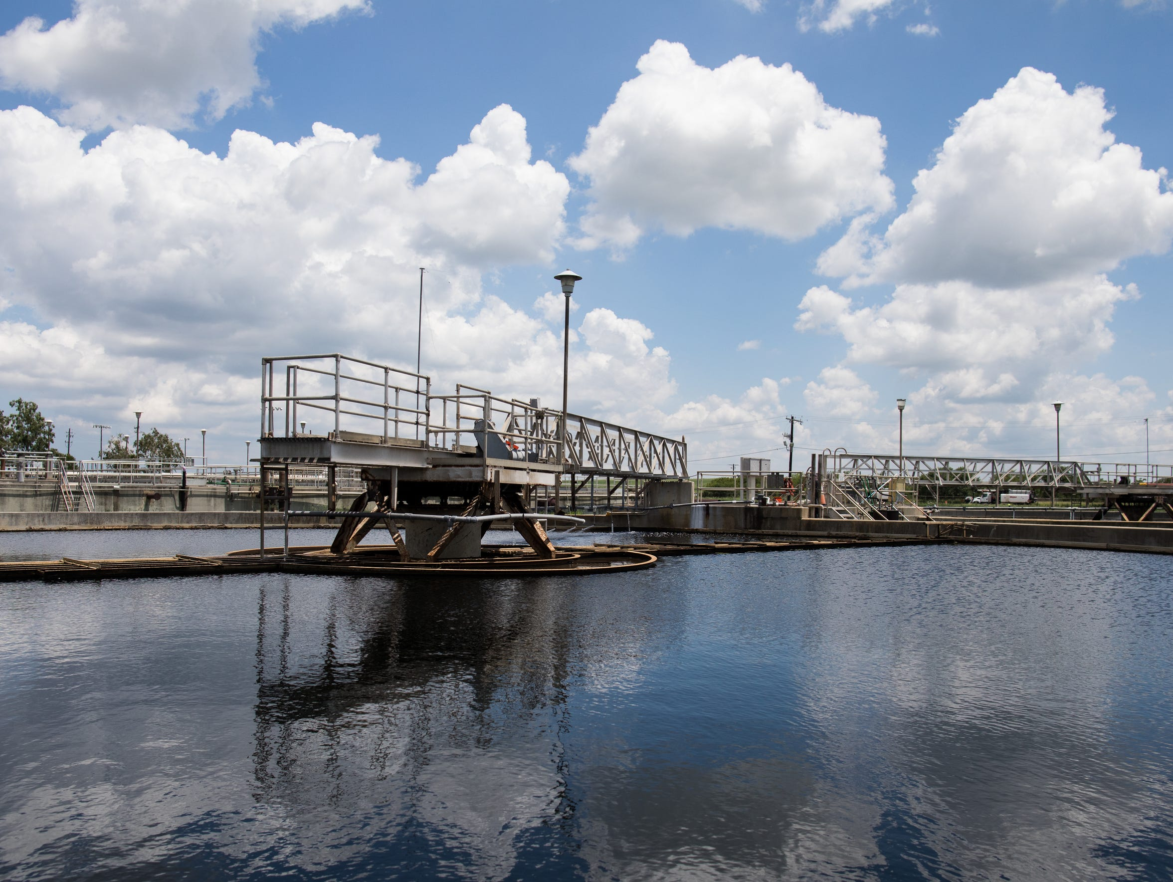 Greenwood Wastewater Treatment Plant's primary clarifiers