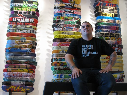 Kevin Jones, manager of Subsect Skateshop in Des Moines, in 2010.