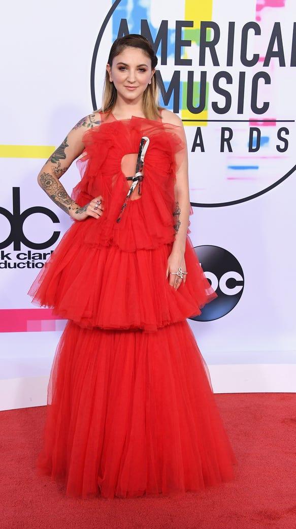 """""""Red velvet cupcake,"""" the dress."""