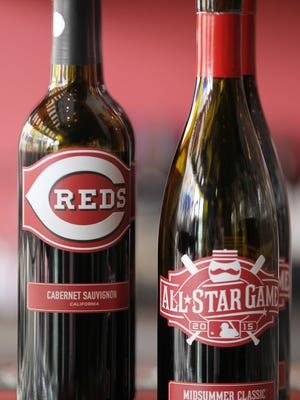 The Cincinnati Reds introduced All-Star Game-themed wines, Wednesday, May 20, 2015. The 2015 All-Star Game Midsummer Classic Pinot Noir will be sold alongside the Cincinnati Reds Club Series wine, a 2013 California Cabernet Sauvignon. The team introduced the wines at a tasting at Santo Graal. The Enquirer/Kareem Elgazzar