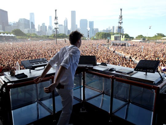 Flume performs at Lollapalooza in Chicago last month.