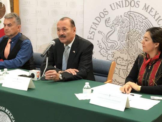 Deputy Consul Ricardo Hernandez, Consul General Marcos