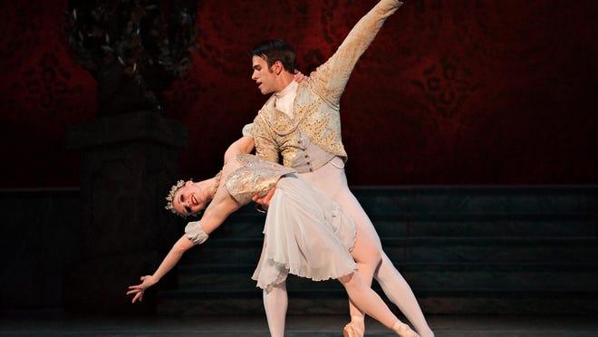 "Ogulcan Borova and Janessa Touchet in Cincinnati Ballet's ""Cinderella"""