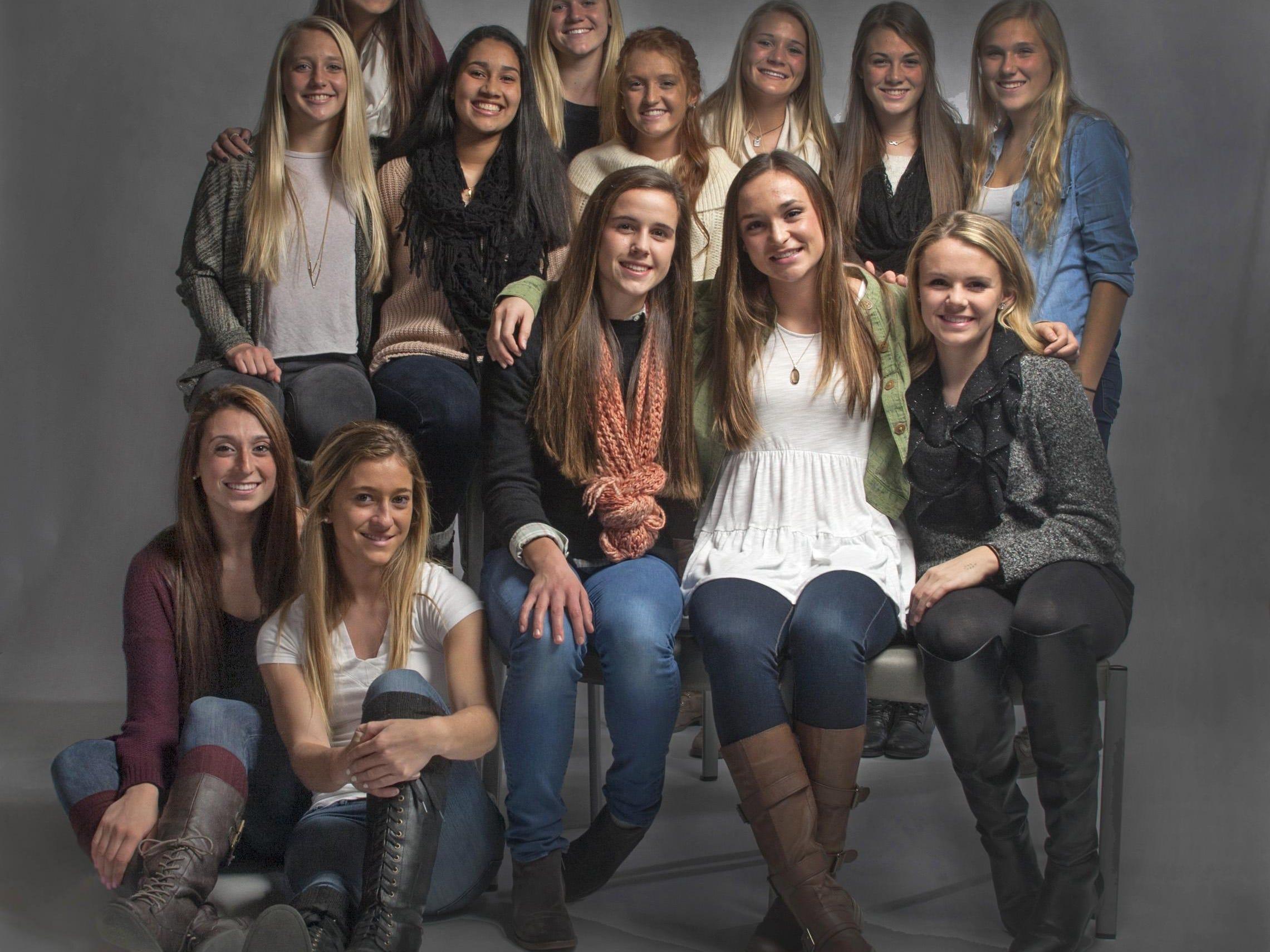 The 2014 Asbury Park Press All-Shore Girls Soccer Team.