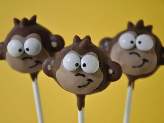 Monkey cake pops made by Lil Cutie Pops in Red Bank.