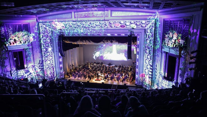 The Cincinnati Symphony Orchestra's LUMENOCITY: Re-imagine, went through a dress rehearsal at Taft Theatre. The visuals are by Lightborne. If you don't have a ticket, you can still attend the free block party outside. Lumenocity runs Friday through Sunday.