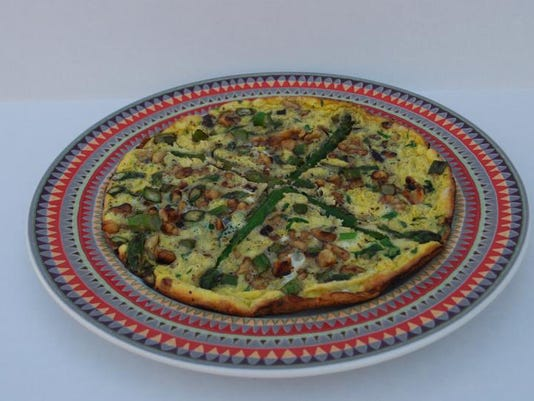 Asparagus-Walnut Frittata
