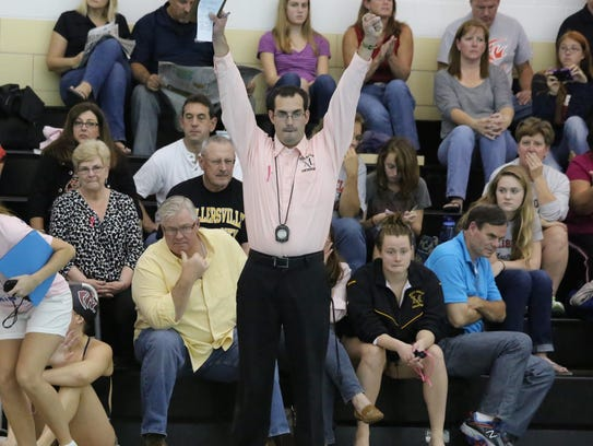 Former Northeastern High School standout Kyle Almoney is the head coach of Millersville University swimming team. PHOTO COURTESY OF RYAN SMALL OF MILLERSVILLE UNIVERSITY