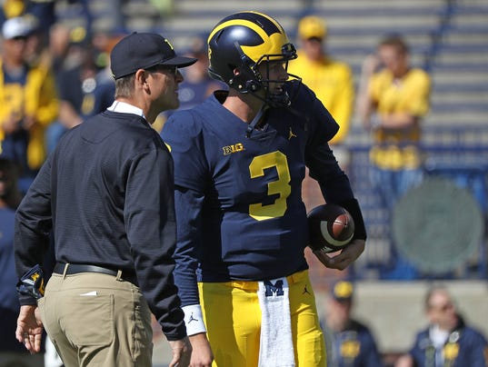 speight harbaugh, wilton speight jim harbaugh, wolverines vs. bearcats
