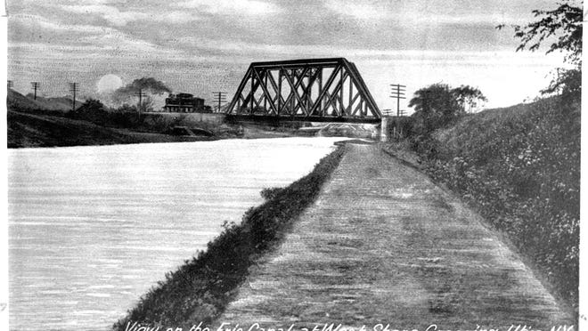 """This """"old black bridge"""" still stands in western Herkimer County although it has not carried traffic for years. For many years, it carried West Shore Railroad traffic (near Dyke Road) - over the old Erie Canal. The West Shore once sliced its way through East Utica, Cornhill, South Utica, crossed the Parkway near Holland Avenue, Genesee Street near the Uptown Theater and then headed west to Syracuse."""