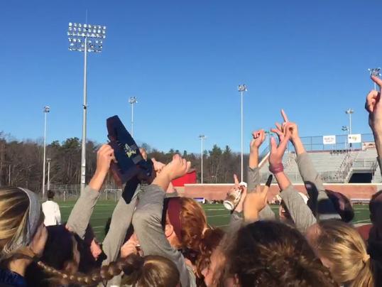 Three Cheers - Arlington girls soccer champs