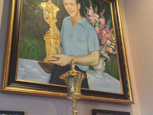 Arnold Palmer's U.S. Amateur trophy